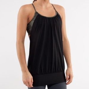Lululemon No Limit Tank in Black & Green Camo